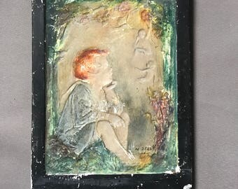 Vintage Chalkware Wall Plaques