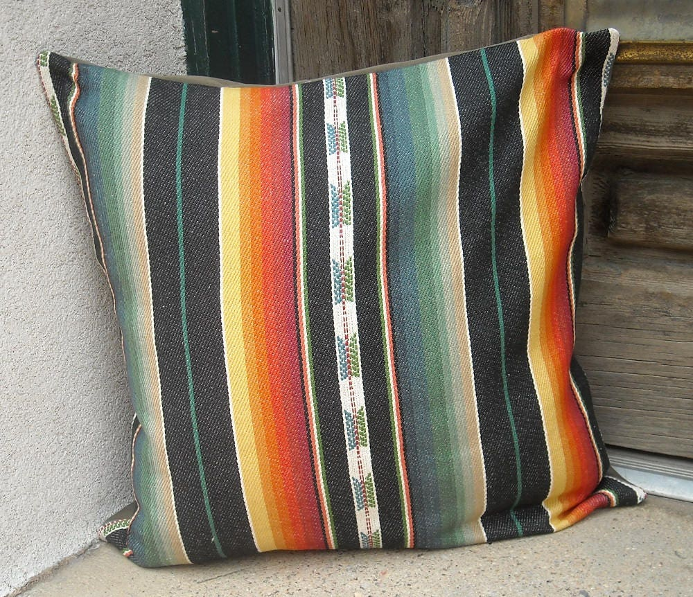 Southwestern Pillow Covers 24 X 24 : Southwestern Pillow Cover. 16 x 16 to 24 x 24. soft woven