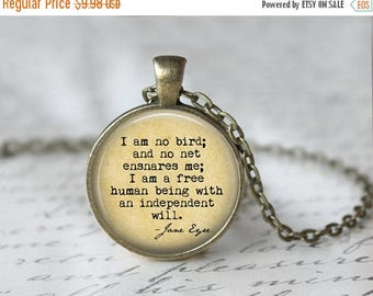 SUMMER SALE Jane Eyre Book Necklace - Jane Eyre Quote - Charlotte Bonte's Jane Eyre - Charlotte Bronte - Jane Eyre Book - Jane Eyre Necklace