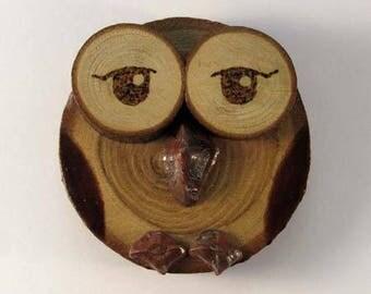OWL magnet in chestnut (ref.43 - 06)