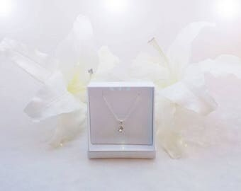 Sterling Silver and Swarovski Necklace in Clear Crystal