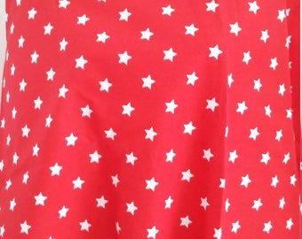 Red fabric with white stars