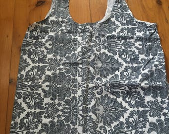 Stripe/Floral Pillowcase Tote Bag
