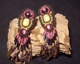 Amethyst and Jasper earrings