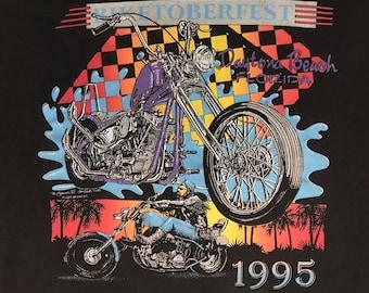 Vintage Biketoberfest Daytona 95 Shovel head Harley Chopper Biker Shirt Large