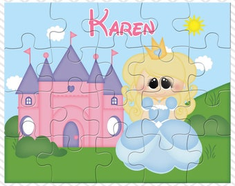Princess Cinderella Personalized Puzzle, Personalized Princess Cinderella Puzzle, Personalized Kids Puzzle