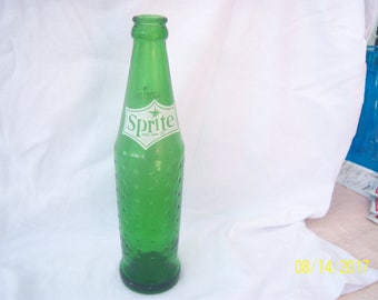 1970's Sprite Big Bend National Park 9 5/8 inch tall green  acl soda bottle