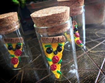 Pizza Beebee Jar // miniature food pizzas pepperoni kawaii cute slice little mini tiny