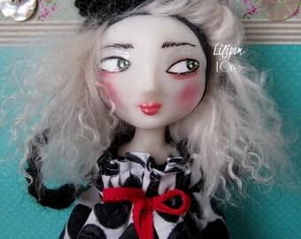 """Artdoll lilipom sculpture doll ooak """"Solange"""", ooak Artdoll, art doll"""