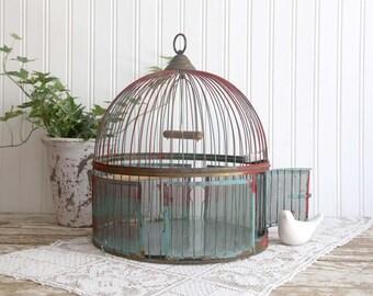 Vintage Bird Cage, Antique Leon Birdcage, Brass Bird Cage, Bird Cage for Wedding