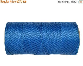 ON SALE Macrame Cord, Bookbinding Cord, 15 meters/16 yards Waxed Thread, Waxed Polyester - Royal Blue
