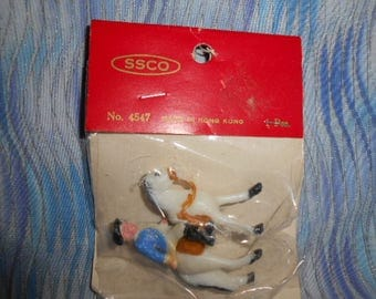"SSCO Miniature  Doll House Miniatures-Solldier On Horse- 2""  Tall-  *Special"