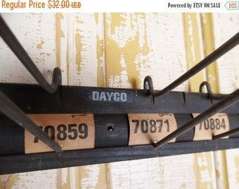 ON SALE Vintage, Fan Belt Display Rack, Industrial Coat Rack, Hat Rack, Display Rack, Dayco, Gas Station, Old Service Station Decor, Man Cav
