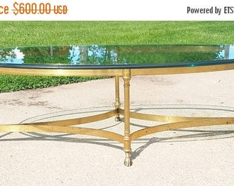 ON SALE LaBarge Brass Hollywood Regency Coffee Table