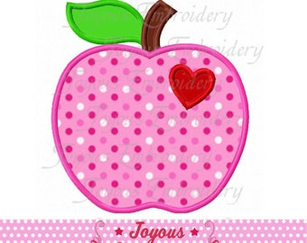 Instant Download Back To School Apple Applique Machine Embroidery Design NO:2355