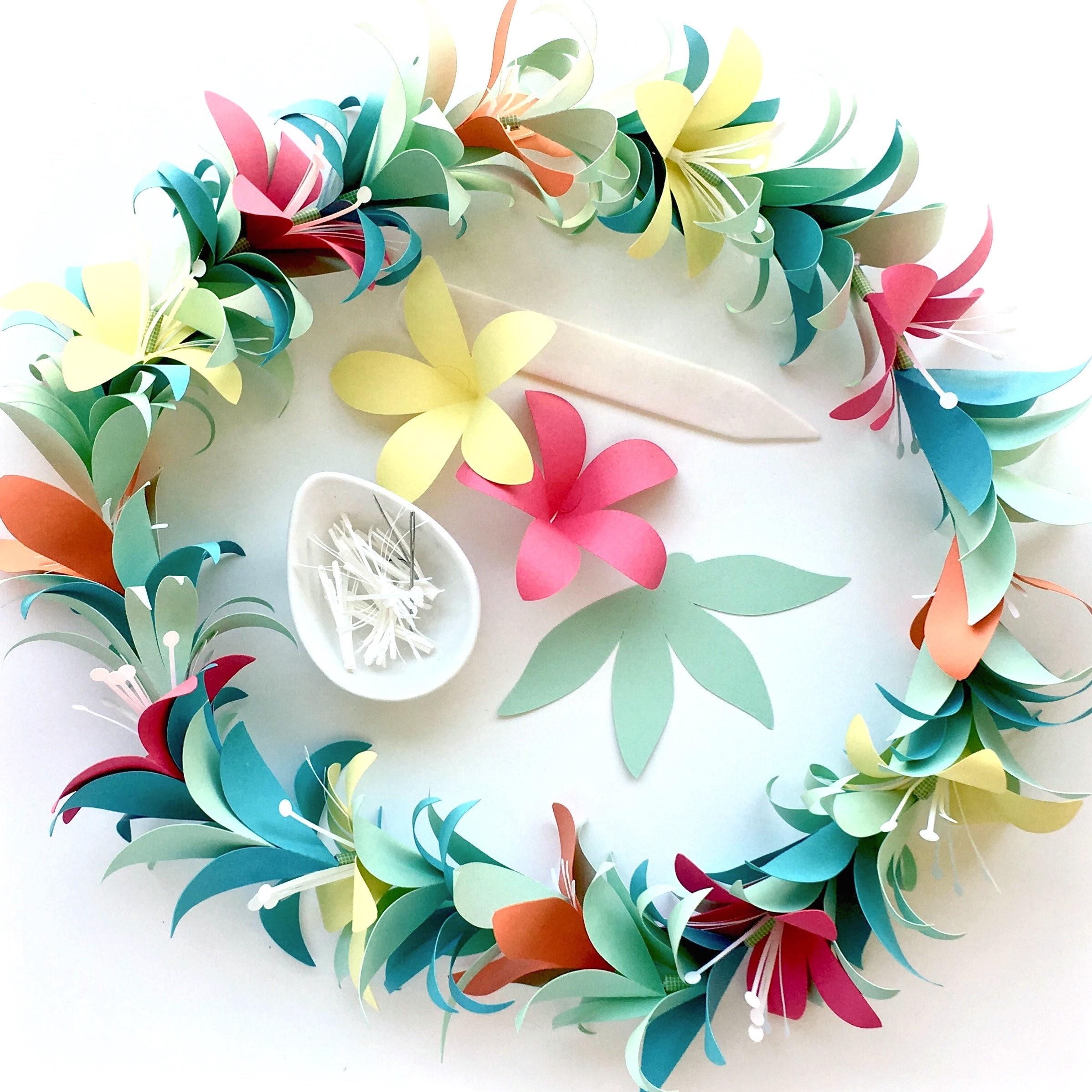 Diy Flower Garland: Flower Garland DIY Templates For Silhouette Cricut Explore Or