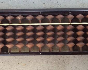 Vintage Japanese Abacus -- Soroban - Counting Tray