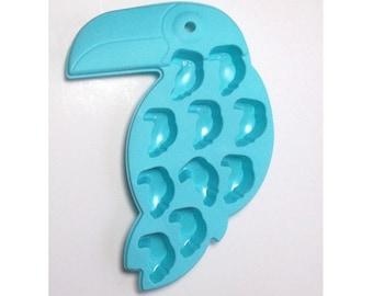 Toucan Mold - Toucan Ice Cube Tray, Summer Mold, Luau Mold, Tropical Mold, Soap Mold, Chocolate Mold
