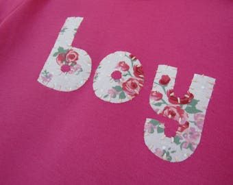 Boy floral pink t-shirt - feminist kids shirt -boys clothes