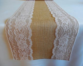 PINK Lace Burlap table runner pink wedding table runner rustic wedding decoration baby shower baby baptism birthday party bridal shower