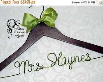 SUMMER SALE Personalized Wedding Hanger, Hanger, Wedding Dress Hanger, Personalized Bridal Hanger Gift - Rush delivery available