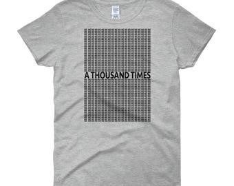 A Thousand Times No - Black Lettering Women's Short Sleeve T-shirt