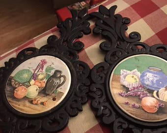 Pair of vintage Norleans trivets...FREE shipping !!!