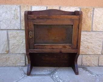 Antique Primitive Wooden Medicine Apothecary Cabinet Chest Cupboard. Apothecary Bathroom Medicine, Kitchen Chest, Drawer