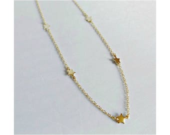 Minimalist star necklace Three Star Necklace Delicate Star