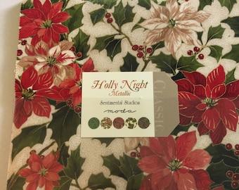 Moda  Layer Cake  Holly Night Metallic