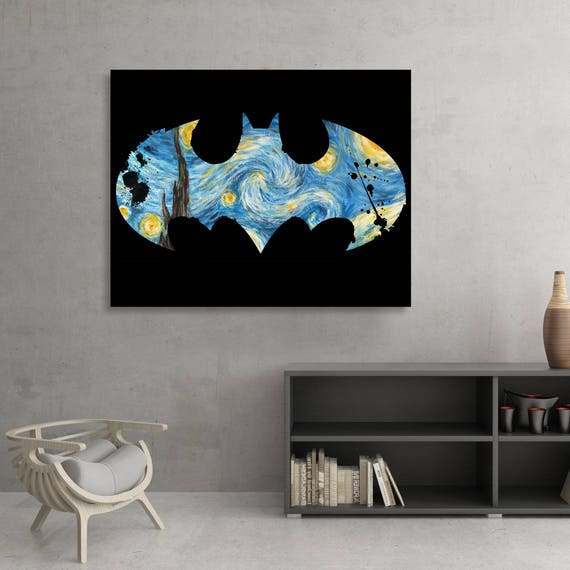 Batman themed Starry Knight Fine Art [SIGNED] (Old School Redux)