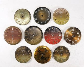 ON SALE Vintage Watch Faces - set of 10 - c29