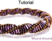 Beading Patterns and Tutorials - Beaded Triple Helix Stitch Bracelet and Necklace Jewelry Making - Simple Bead Patterns - Wound Around #1888
