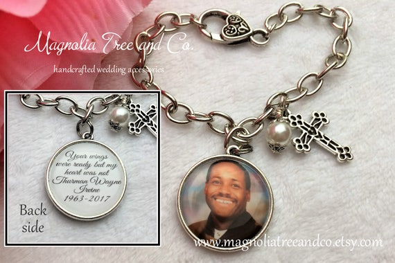 Memorial Charm Bracelet, Keychain Or Necklace, Sympathy