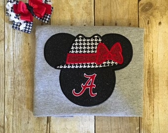 Inspired Mickey & Minnie Head Alabama Shirts
