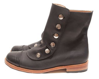 Mamba Black - Leather boots - Handmade in Argentina - Free shipping