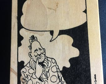 New Price! Zippy the Pinhead Rubber Stamp!