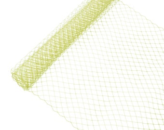 """1 Yard x 10"""" Gold Russian Millinery Birdcage Veil Netting - Available in 17 Colors"""