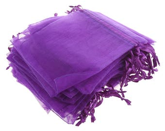 20 Purple Organza Bags 9x12cm (3.5x4.5 in ) Jewelry Gift Bags Beads Handmade Soaps Potpourri Wine Charms Sachets Weddings Baby Showers