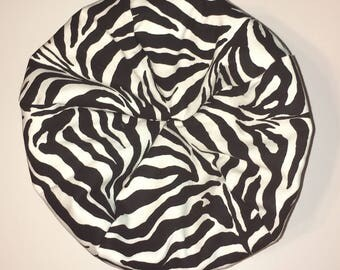 Toy Doll Bean Bag Chair For 18 American In Animal Prints Zebra Black