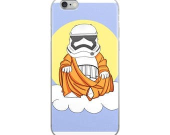iPhone Case, Star wars Storm Trooper Buddha