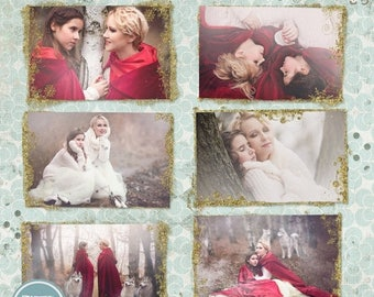 ON SALE NOW Golden Christmas Photo Overlays, Winter, Snow, Photo Overlays - Photoshop Template - Instant Download