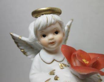Angel Vintage Lefton July Birthday 6800 Series gift girls birthday angel 1980s  angel figurine statue dolls