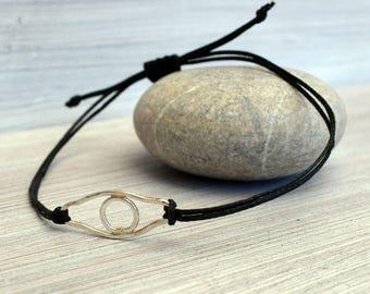 Silver evil eye bracelet, eye charm, protection bracelet, symbolic eye, eye bracelet, evil eye