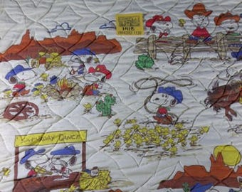 1970's Peanuts Western Light weight Comforter