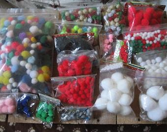 Bulk Pom Pom Balls-Rainbow colored Pom Poms-Multi colored Pom Pom-Darice Pom Pom-VBS Craft Supplies-Acrylic Yarn Pom Poms-Scout Supplies