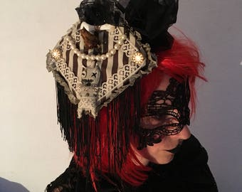 Voodoo doll fascinator hat