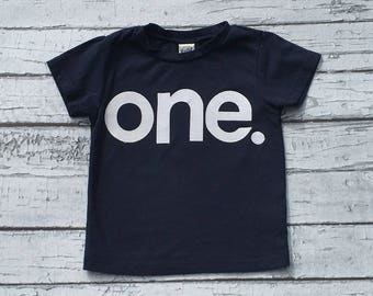 One//First Birthday//Boy//Shirt//Birthday Shirt//Ready To Ship