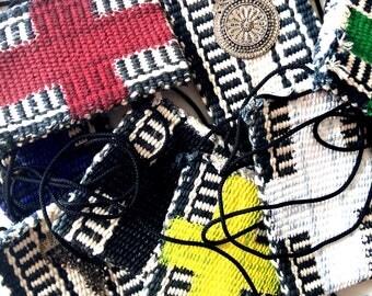 Anaïs cotton crossbody bold cross phone credit card key buspass holder pouch bag Sold Separately / Eve Damon