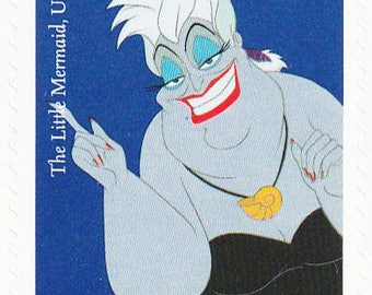 Unused 2017 Ursula the Sea Witch - Ariel The Little Mermaid Sea Villain - Postage Stamps Number 5220